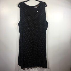 NWT Loft Black/Cream Polka Dot Midi Dress